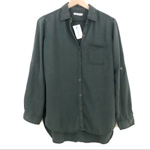 Sneak Peek | Deep Green Chambray Button Down Shirt